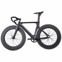 2021 ican profissional faixa de carbono completa bicicleta ud fosco forquilha Única velocidade de carbono bicicleta correio bicicleta