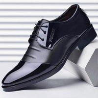 2021 Scarpe in pelle Business da uomo Uomo Scarpa formale 46 Casual 47 Boy Brown Black Extra grande taglia 48 Greenlae