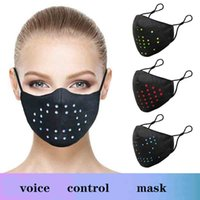 LED Display Colorful Colourful Control Control Mask Musica vacanze Voice Voice Maschera luminosa in cotone in cotone vendita calda