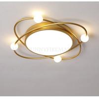 Moderne Luxus-LED-Gold- / Schwarz-Hauptschlafzimmer Deckenleuchte 35W / 28W Warme Romantische Arbeitszimmer Lampen Nordic Aluminium Lights BULL MOUNT FIGHTURES
