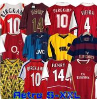 Highbury 86 88 Voetbal Shirt Jersey Soccer Pires Henry Reyes 2002 04 Retro Jersey 2005 06 98 99 Bergkamp 94 95 Adams Persie 96 97 Gal