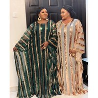 Ethnic Clothing Many Color African Dresses For Women Plus Size Dashiki Full Sequined Clothes Abaya Dubai Muslim Dress Africa Boubou Robe