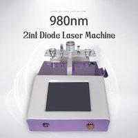 Высокое качество 980 диода сосудистого лазерного оборудования красоты для красоты Spister Vein и удаление гриба ногтей + физиотерапия для боли шеи CE одобрено
