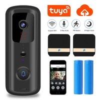 Doorbells WiFi Doorbell Camera Video Visual Intercom With IR Alarm Night Vision Door Bell Home Wireless Security Smart