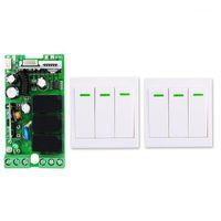 Smart Home Control Universal Wireless Remote AC110V 220V 3CH RF Relä och sändargarage / LED / Ljus / Fläkt / Hushållsbrytare