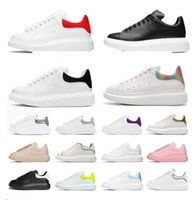 """alexander mcqueen mcqueens Designer white Black shoes classic suede velvet leather men womens flats platform oversized sneaker shoe espadrille flat"