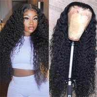 Lace Wigs Deep Wave 13x6 Front Human Hair For Women Transparent Frontal Wig Wet And Wavy Curly Pre Plucked