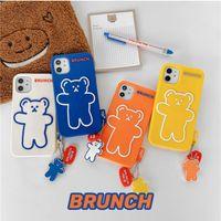 3D мультфильм милый творческий медведь мягкий силиконовый телефон задняя крышка чехол для iPhone12 11 Pro X XS MAX XR 6 6S 7 8 плюс