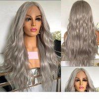 Бразильские кружевные фронтальные парики человека для женщин серый натуральный волна кружева передний парик 13x6x1 t часть кружева парик с волосами младенца