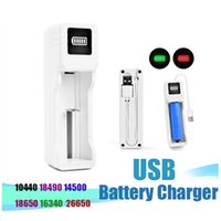 USB Battery Charger 3.7V 18650 14500 18490 26650 single Universal Chargers for Rechargeable Li-ion Batteries E Cigarette Game consoles