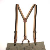 Подтяжки с дополнительными крепками клипы модный ремень брюки брекеты клип унисекс подтяжки брюки эластичные Y-образные подтяжки