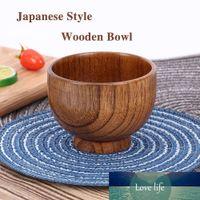 Japanischer Stil Hölzerne Schüssel Löffel Suppe / Salat Reisschalen Ramen Naturholz Geschirr Adorable
