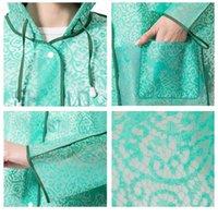 Llegada Fashion Lace Impermeable Plastic EVA Mujer con capucha con capucha Lluvia Lluvia Abrigos Adulto Al Aire Libre Rainw Jllgad