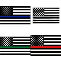 ABD hisse senedi ince mavi çizgi kırmızı çizgi bayraklar 3x5 ft 6 stilleri polyester bayrak 2020 ABD polis yangın saygı ve onur afiş bayrakları 60 adet 776 k2