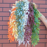 Artificial Jujube Leaf Hall Wedding Decoration Wall Colgando Willow Hoja Home Project Green Planting Rattan Floral Art