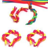 Crianças adulto fidget decompressão corda macarrão cordas sensory brinquedos fidget DHL Rápido abreact cola flexível string string néon slings H22202