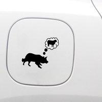 14.4 cm * 12.7 cm Komik Sınır Collie Koyun Vinil Araba Sticker Çıkartması Siyah