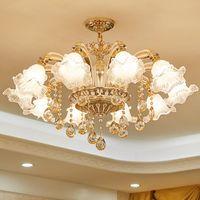 Золотая хрустальная люстра современное освещение для гостиной столовая люстра светильники люстры Crystal K9 Lights
