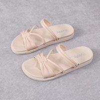 BONJEAN Lüks Tuval Ayakkabıları Desinger Terlik Marka Yaz Düz kadın Sandal Rahat Slaytlar Açık Plaj Kadın Flip Flop 2021