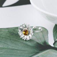 Earrings & Necklace My Sunshine Ring Women's Adjustable Open Sunflower Shape Jewelry Gift For Girl PR Sale