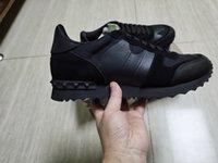 Neue Designerschuhe Rockrunner Camouflage Noir Stoff Nappa Sneaker Echtes Leder Mens Frauen Wohnungen Luxus Trainer Größe 35-46