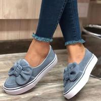 المرأة القوس الشقق السيدات الانزلاق على المشي الأحذية النسائية قطيع المتسكعون أحذية رياضية عارضة الإناث النساء موضة جديدة 2020 J28X #