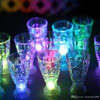 LED atış cam mini aydınlık flaş ışık renkli KTV konser bar özel drinkware yanıp sönen içecek şarap fincan dekoratif kupa DH0170