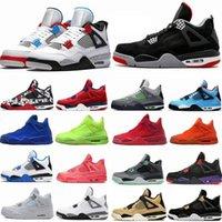 أعلى jingman 4 الرجعية 4S الرجال أحذية كرة السلة الجامعة الأزرق القط الأسود الرعد الصفة الموالية مصمم الأحذية الرياضة أحذية رياضية الحجم 36-46