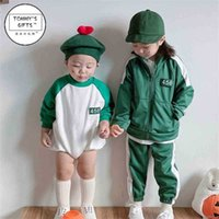 Ins baby kids TV squid game tracksuit red green color 456 two piece hoodie set children's sportswear long sleeve outfits halloween cosplay customes props G059OFP
