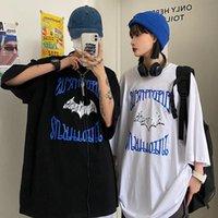 T-shirt Femme Manches courtes T-shirt T-shirts Couplestops Femmes Homme Imprimé Bat T-shirt Lâche T-shirt Boy Style Streetwear Vêtements occasionnels Été Harajuk