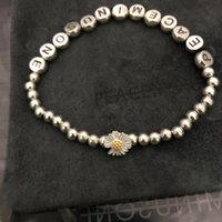 PeaCeminusone Nouvelle lettre Daisy Bracelet GD Star Même Style 925 Sterling Sterling Silver Bracelet Bracelet Trend Bijoux