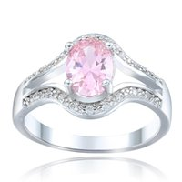 Wedding Rings Pink Zircon Fashion Jewelry For Lover Paved Cz Bijouterie Vintage Design Women Engagement Silver Color Bague