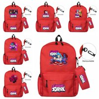 Backpack Friday Night Funkin Canvas School Bags With Pencil Case For Teenage Boys Girls Travel Bag Women Men Laptop Red
