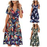 Casual Dresses Bohemian Fashion Women's Strap Dress Summer Flower Print Sleeveless Camisole Long Tank Sundress Beach Style Robe