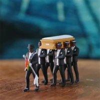 1:64 عالية محاكاة البلاستيك غانا التشييع نعش الرقص الفريق النموذجي نموذج بديعة صنعة عمل الشكل سيارة ديكور 6 v2