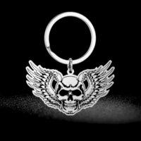Eueavan 10pcs en gros squelette neo goth punk pendentif chaînes en acier inoxydable charmes Halloween Bijoux porte-clés