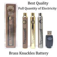 Латунные костяшки батареи 650 мАч 900 мАч золотая древесина ломоли предварительного нагрева регулируемое напряжение Vape Pen BK 510 резьбовой картридж