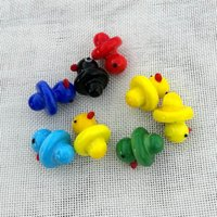 6 Colors OD 23mm Smoking Accessories Yellow Duck Style Carb Caps Dome For Quartz Banger Nails Glass Water Bongs Glass Bubble