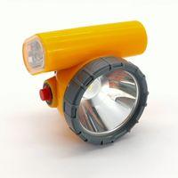 12 stks / partij Nieuwe oplaadbare waterdichte explosiebestendige KL5LM draadloze LED mijnbouwlamp 5W koplamp draadloze mijnwerker cap licht met stroboscoop licht