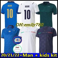 Fans Jogador 2021 Itália Jerseys de futebol Immobile Italia Jorginho Insigne Verratti Bernardeschi Locatelli Homens e Crianças 20 21 Camisas de Futebol Chiesa Barella Berardi