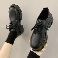 Autumn Boots Women Platform Shoes Thinken Heel Chunky Sneakers Black Punk Boots Shoes Height Increasing Botas De Mujer 2021