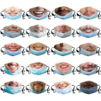 2021 custom face mask with funny expressions masks for men women printing hanging ears dust-proof and anti-haze facemasks washable fy9373