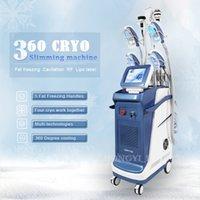 5 Kolları Cryolipolysis Zayıflama Donma Fat Makinesi Lipo Lazer Kavitasyon RF Hücre Kaybı 360 Kriyo Vakum Popo Kaldırma CE Onay