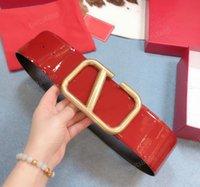 Mode de la maquette en cuir de cuir haut de gamme couchette personnalisée couchette de vachette 3cm 4cm 7cm double face peut utiliser une boucle en cuivre en or pour femmes avec une boîte