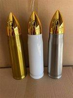 Sublimation Bullet Tumbler Thermos Kaffeetasse Edelstahl Trinkbecher 500ml Wasserflasche Isolierung Trinkbecher A02