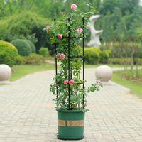 Other Garden Supplies Plant Support Set Durable Creative Vine Climbing Rack Trellis Rose Plastic Cherry Tomatoes Home Decor Black Plants Sta