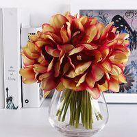 장식 꽃 화환 플론 인공 phalaenopsis 난초 진짜 터치 cymbidium 꽃다발 홈 장식 결혼식 꽃 파티 decoratio