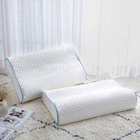 느린 탄력성 메모리 50 * 30cm 폼 자궁 경부 목 보호 건강한 침대 베개 좋은 수면