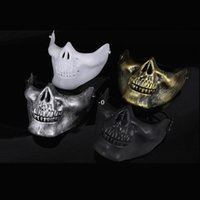 Skeleton Mask Half Face Actual Combat Warrior Face Masks Halloween Party scary mask Worldwide OWB10465