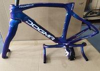 カメレオンカラーT1100 1K光沢F12ロードフレームフルカーボンファイバーロードフレームセット+ハンドルバー自転車フレーム